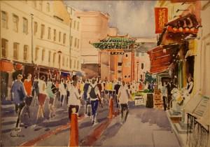 """Gerrard St Chinatown - 11""""x15"""" £100"""