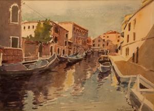 "Venice Canals - 11""x15"" £100"