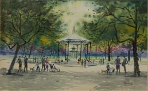 "Battersea Park Bandstand - 14""x17"" £150"