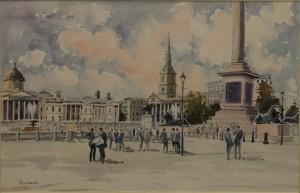 """Trafalgar Square - 12""""x16"""" £125"""