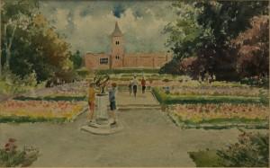 "Holland Park Gardens - 12""x16"" £100"