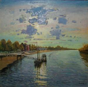 "Putney Pier - 24""x24 Sold"