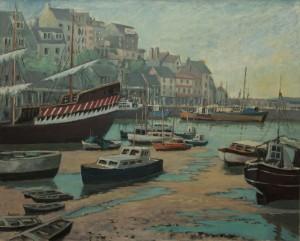 """Brixham Harbour - 24""""x30"""" £300"""
