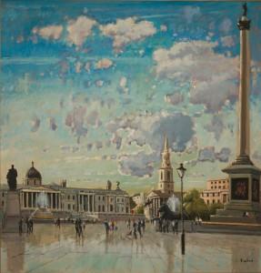 """Trafalgar Square - 28""""x28"""" £350"""