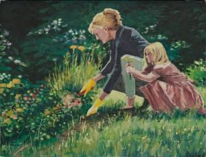 """Young Gardener - 8""""x10"""" £120"""