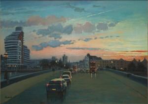 "Sunset Over Putney Bridge - 20""x24"" £325"