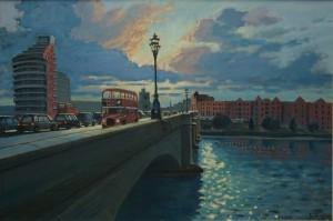 "Putney Bridge Sunset - 20""x30"" £350"