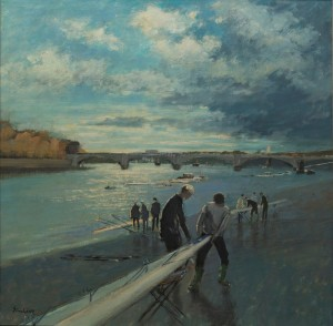 "Fixing the Riggers at Putney - 20""x20""