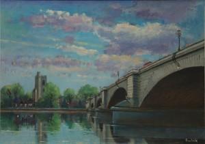"All Saint by Putney Bridge - 16""x20"" £210"