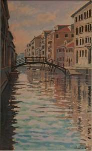 "Venice Backwater - 20""x10"" £150"