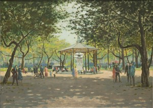 "Bandstand at Battersea Park - 19""x25""