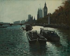 """Sunlit Thames at Big Ben - 20""""x24"""" £385"""