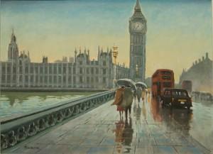 "Raining on Westminster Bridge - 12""x16"" £200"