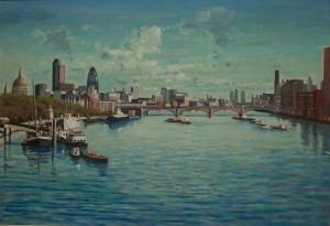 """River Thames at City - 20""""x24"""" £250"""