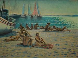 """On the Beach - 16""""x20"""" £200"""