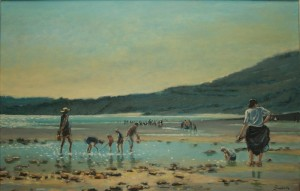 """Fossil Hunting in Charmouth - 20""""x24"""" £200"""