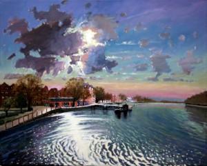 "Sunset Over Putney - 30""x24"" £300"