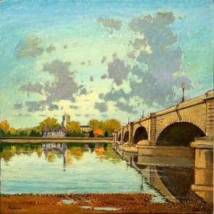 "All Saints at Putney Bridge - 24""x24"" £250"